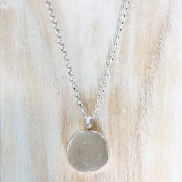 Moon Like Frosted Pendant