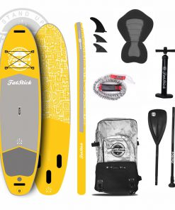 Mellow Yellow Inflatable Paddle Board 10'6 Package