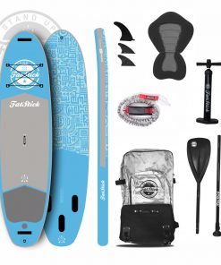 Coral Blue Inflatable Paddle Board 10'6 Package